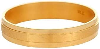 Certified Solid 22K/18K Yellow Fine Gold Plain Band Design Ladies Finger Ring
