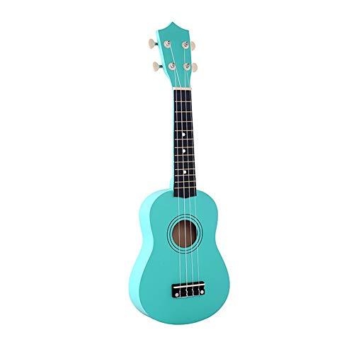 Ukulele de Madera de 21 Pulgadas Ukulele Niños Cuatro Cuerdas Pequeña Guitarra Color Ukulele Guitarra Viaje Guitarra Ukulele Kit (Color : Navy Blue)