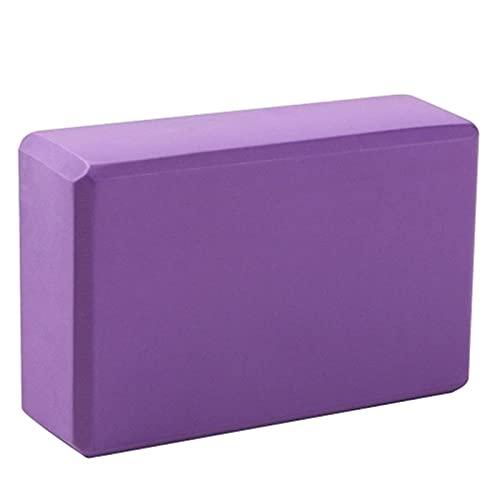 WanuigH Bloques de Yoga Bloque de Yoga Alta Elasticidad Material amigable Ambiental Espesar Multicolor Fuentes de Baile de Alta Densidad Fácil de Practicar (Color : Purple, Size : One Size)
