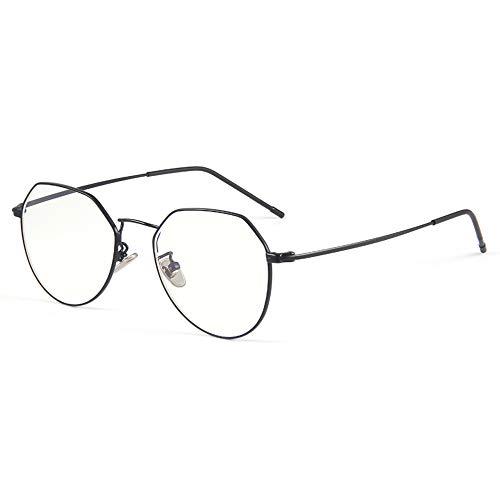 CAOXN Gafas De Lectura Anti-Azules HD para Mujer Montura Irregular, Lente De Resina 1,56 / Lupa Antifatiga Lector De Dioptrías De +1,0 A +3,0,Negro,+2.50