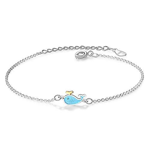 siqiwl Pulsera de moda de estilo lindo pequeño delfín pulseras infinito encanto para las mujeres brazalete de joyería regalo de fiesta