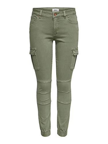 Only 15170889 Pantalones, Verde (Oil Green Oil Green), Talla Única (Talla del Fabricante: 42) para Mujer