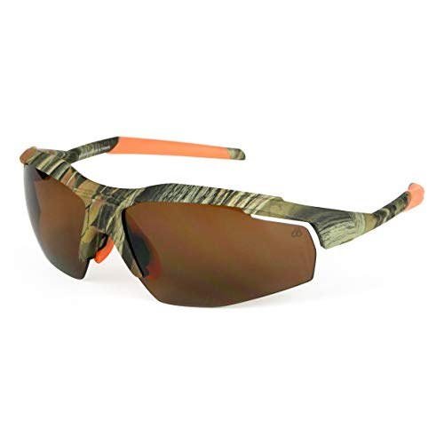 Filthy Anglers Gafas de sol unisex de policarbonato polarizadas para pesca, de la marca Badger, Verde (Camo Frame), Talla única