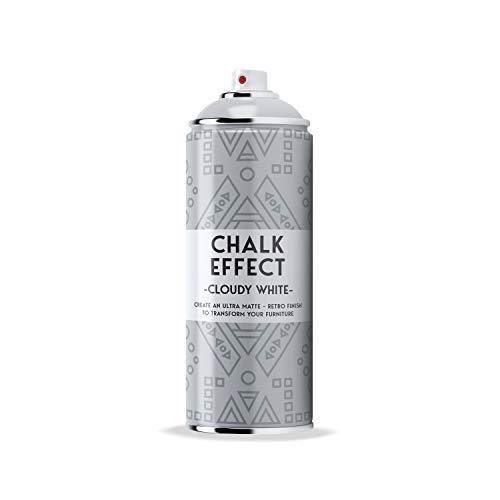 COSMOS LAC Chalk Effect Spray - Hochwertige Kreide-Sprühfarbe - perfekt für DIY Projekte (Cloudy white)