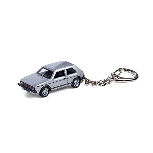 corpus delicti :: Schlüsselanhänger mit VW Golf GTI I Silber Modellauto für alle Auto- und Oldtimerfans (20.9-39)