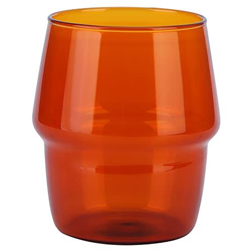 Lindos vasos para beber, vasos de jugo, mini vaso de chupito, vasos de chupito translúcidos para el hogar y la cocina, cristalería para productos lácteos, café para jugo(Amarillo)