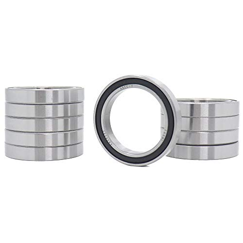 10PCS 6806-2RS Double Rubber Seal Bearings 30x42x7mm,for Limited Space Applications and Light Loads 61806RS Deep Groove Ball Bearings