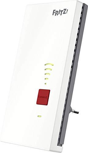 AVM Fritz!Repeater 2400 - Repetidor (Dual WLAN AC + N hasta 1.733 MBit/s + 600 MBit/s), 1 Gigabit LAN, Red WLAN, versión en alemán