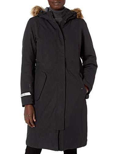 Helly Hansen Women's Vidda Waterproof Windproof Breathable Long Parka Coat Jacket Removable Faux Fur Trim, 990 Black, Medium