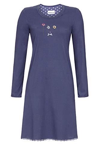 Ringella Damen Nachthemd mit Motivdruck Night Shadow 52 0511001, Night Shadow, 52