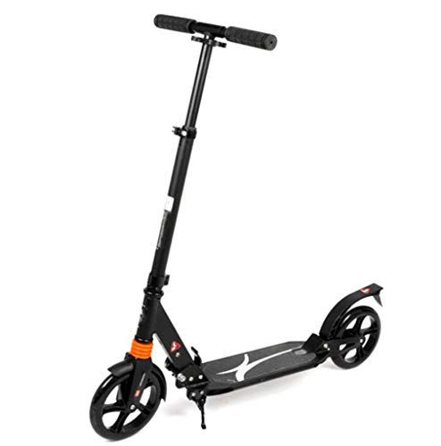 Lowest Prices! JBHURF Adult Kick Scooter Pedal Scooter Two-Wheel Collapsible Shock Big Wheel Scooter...