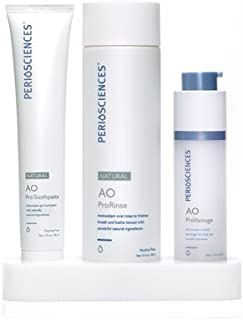 PerioSciences Antioxidant Oral Care System Natural - 3 Product Starter Kit Includes Dental Gel, Toothpaste and Mouth Wash