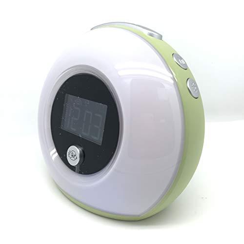 Bluetooth speaker muziek slaap kleurrijke nachtlampje kinderen wekker multifunctionele draadloze wekker bluetooth luidspreker, Groen