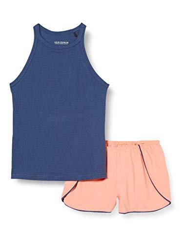Schiesser Mädchen Anzug kurz Zweiteiliger Schlafanzug, Blau (Indigo 824), (Herstellergröße: 152)