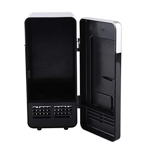 Mini USB Frigo, Lattine per Bevande Raffreddamento Scalda Frigorifero Frigorifero Portatile Raffreddatore di Bevande per Home Office Auto Dormitorio o Barca(Nero)