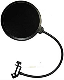 Professional Microphone Pop Filter Mask Shield,Compatible Any Other Microphone,Dual Layered Wind Pop Screen with Flexible ...