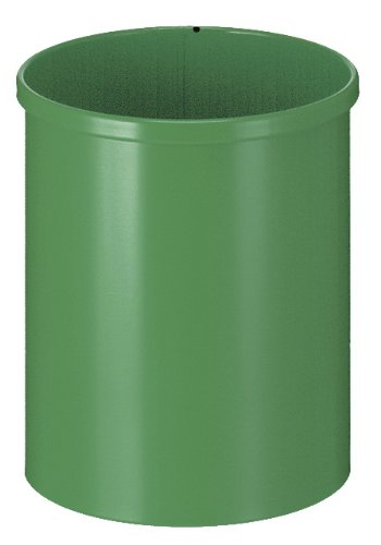 V-part corbeille à papier en métal blanc 15 litres (vert)