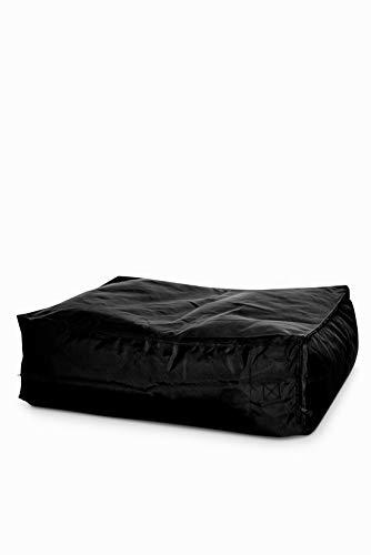 Green Bean © Zone3 Add-On Legs für Lounge Chair Sitzsack, Bodenkissen Erweiterung, Hocker für Gaming Beanbag, Fußhocker für Sitzkissen, Fußkissen & Stütze, Kissen für Kinder und Erwachsene, Schwarz