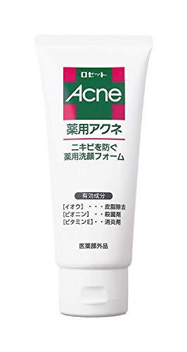(医薬部外品) ロゼット 薬用アクネ洗顔フォーム 130g (洗顔料) イオウ配合 ニキビ予防 毛穴ケア (さっぱり)