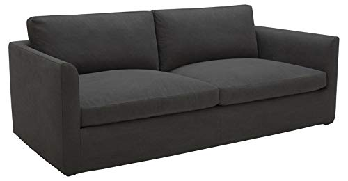 Amazon Brand – Stone & Beam Faraday Down-Filled Casual Sofa, 102'W, Charcoal