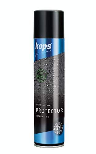 Kaps Protector – Imprägnierspray & Schuhpflege für Lederschuhe und Textilien – High Tech Leder Impregnierungsspray & Schuhspray für Wildleder (200 ml - 6.76 fl. Oz.)
