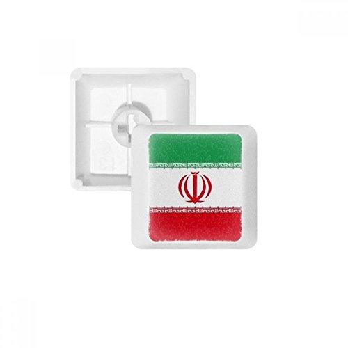 Iranische Nationalflagge Asien Land PBT Tastenkappen für mechanische Tastatur, Weiß Mehrfarbig Mehrfarbig R4