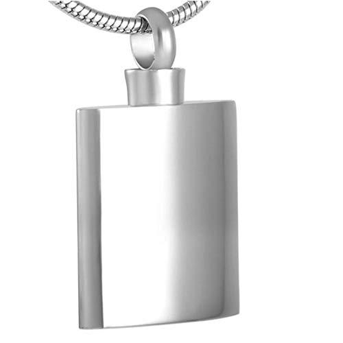 GenericBrands Joyería de cremación Cuadrada de Acero Inoxidable para Mujeres y Hombres en Collares Pendientes