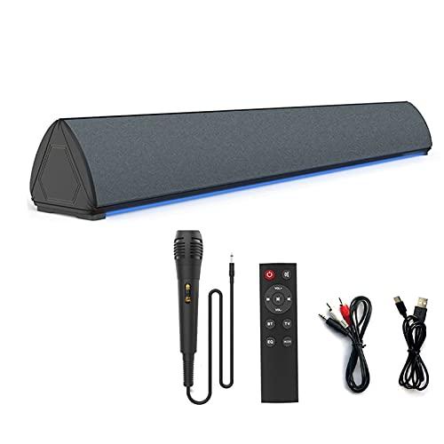 Soundbar, LVOD Alto-falantes Bluetooth para áudio de home theater com sistema de som surround 3D com 4 buzinas Full Range