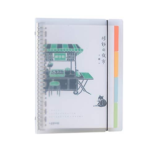 Record Stationery Simple Student - Cuaderno de hojas sueltas, diseño de hojas sueltas, diseño de hojas sueltas, color verde