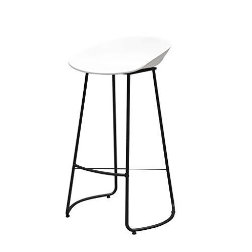 Tabouret de bar Nordic En Fer Forgé Mode Tabouret De Bar Chaise Maison Cuisine Loisirs Café Réception Tabouret Haut (Taille Assise: 75CM) (Couleur : Blanc)