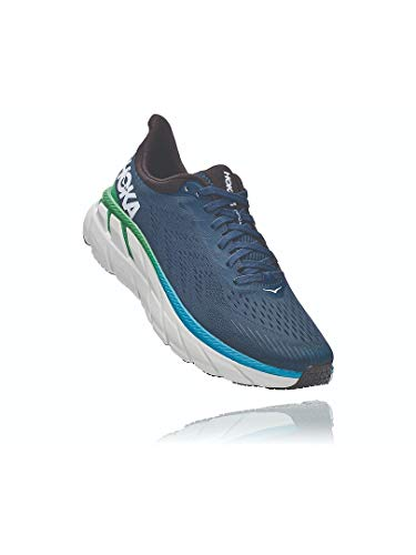 HOKA ONE ONE Men's Clifton 7 Running Shoe (Moonlit Ocean/Anthracite