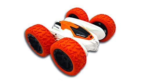 LEXIBOOK- Crosslander Luminoso Terreno, Control Remoto de Pulsera, Coche controlado por Radio, Recargable, Juego de acción electrónico, Blanco/Naranja, Color