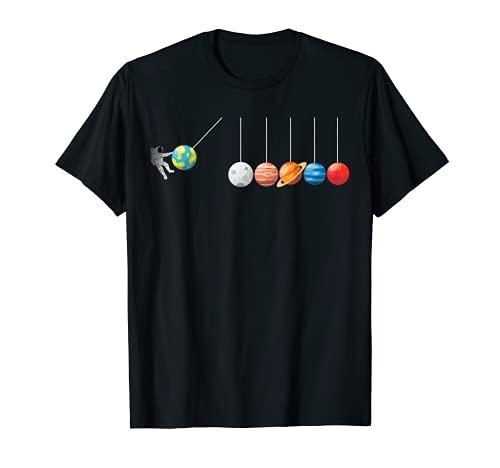Divertida camiseta de astrofísico Planeta Péndulo de Newton Camiseta