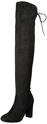 Chinese Laundry women's BRINNA Over the Knee Boot, black suede, 6 M US