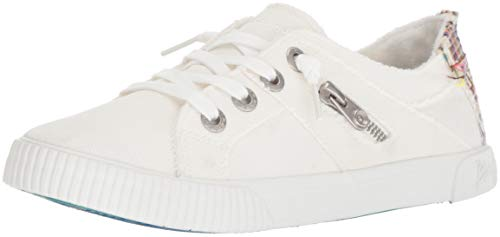 Blowfish Malibu Women's Fruit Sneaker, White Smoked oz Canvas, 10 M US