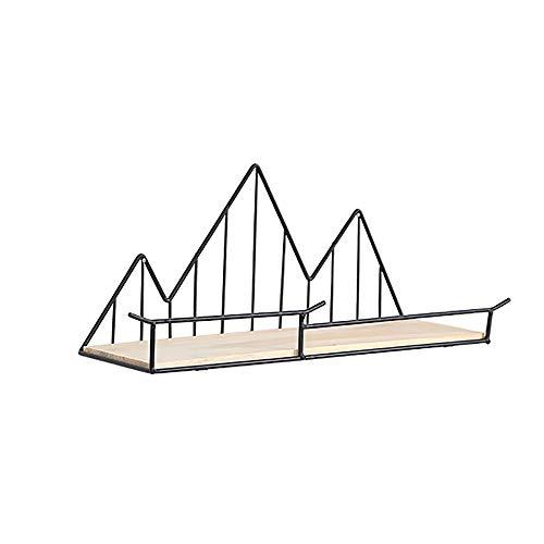 Zwevende Planken Eenvoudige Metalen Opbergrek Creatieve Zwevende Wandplank Voor Slaapkamer Woonkamer Badkamer Keukengang,Black
