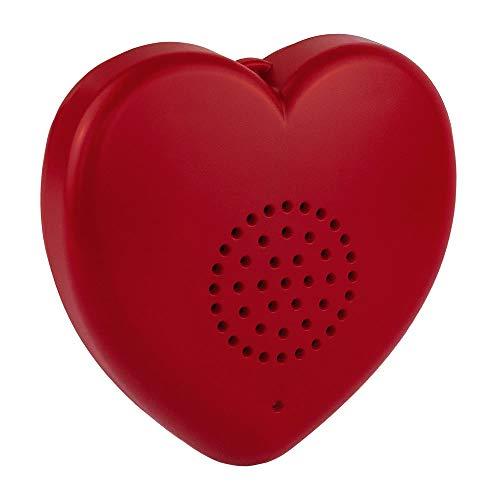 Talking Products, MP3 Sprechen Herz Stofftiermodul, 8 Minuten Aufnahme, Gefülltes Teddybärentier, Valentinstagsgeschenk und personalisiertes Baby-Herzschlag-Andenken.
