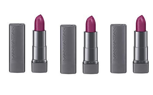 Manhattan All In One Matte Lippenstift, Matter Lipstick für definierte Lippen und ein langanhaltendes satin-mattes Finish, Farbe Pinky Rose 710, 1 x 4 g