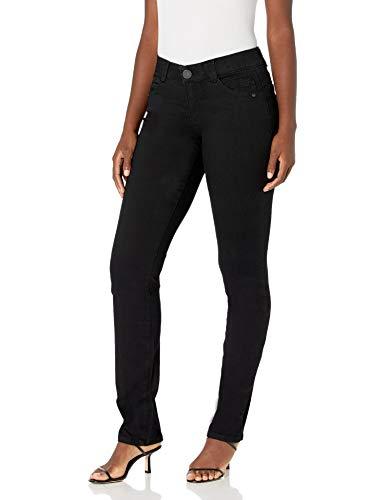 Democracy Womens Ab Solution Straight Leg Jean, Black, 4