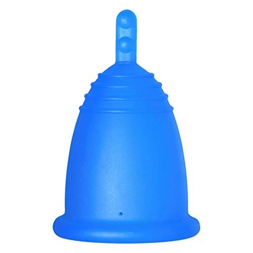 MeLuna Classic Copa Menstrual, Palito, Azul, Talla M - 1 Unidad