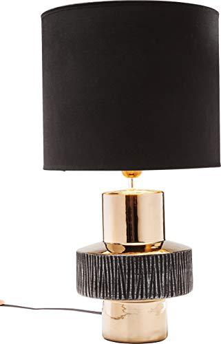 Kare 35030 Creation Ring Lampe de table design Noir/doré 55 x 30 x 30 cm