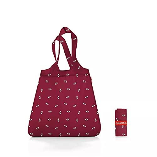 Reisenthel Mini Maxi Shopper Special Edition Bavaria 5 Dark Ruby rot – Einkaufsbeutel mit 15l Volumen aus reißfestem Polyestergewebe bei winzigem Packmaß – wasserabweisend – B 43,5 x H 63 x T 6 cm