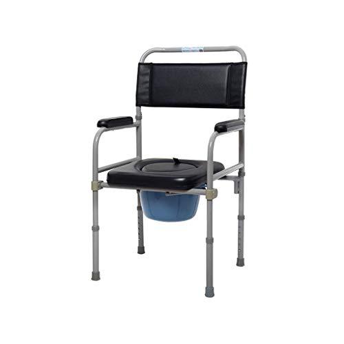 Z-SEAT Zusammenklappbare tragbare Kommode für ältere Menschen am Bett, höhenverstellbarer behindertengerechter Toilettensitz, Toilettenhocker für medizinische Erwachsene mit Deckel G