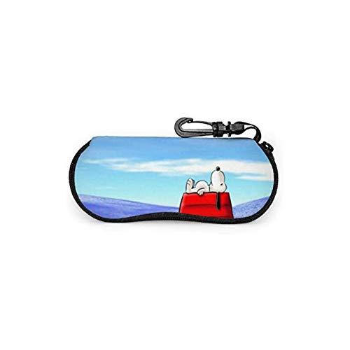 LeosWare Snoopy - Funda para gafas de sol, portátil, con cremallera, para gafas de lectura, juego de protección