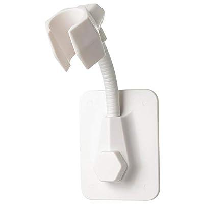 YOLOPLUS+ 1 PCS Strong Adhesive Shower Head Holder Adjustable Shower Wand Holder,Handheld Shower Head Hanger Wall Mount Bracket,Showerhead & Bidet Sprayer Bracket for Bathroom Bathtub (White)