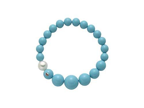 Miluna - Bracciale di perle Miluna TERRA E MARE in argento 925% con turchese