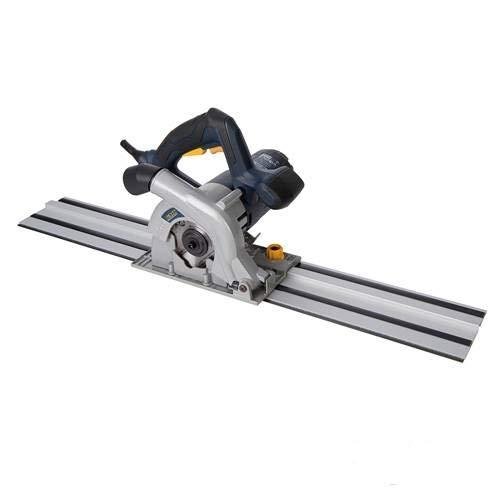Platte zaag compact 110 mm 1050 W met geleiderail