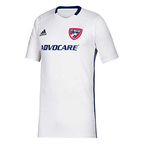 adidas FC Dallas MLS Youth White Official Climalite Team Replica Jersey (XL)
