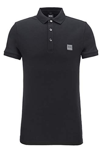 BOSS Casual Passenger 10193126 01, Polo Hombre, Negro (Black 1), Medium, Slim Fit