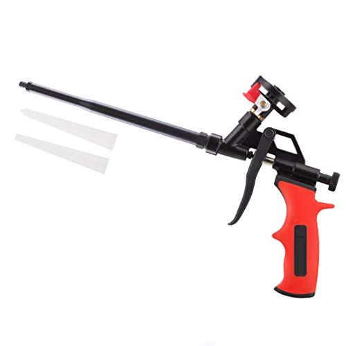 Needn t Cleaner Foam Gun, Pu Expanding Foaming Gun, Upgrade Caulking Gun, Heavy Duty Spray Foam Gun, Metal Body Covered with PTFE, Suitable for Caulking, Filling, Sealing, Home and Office Use